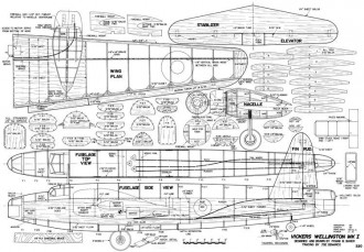 Vickers Wellington MKI model airplane plan