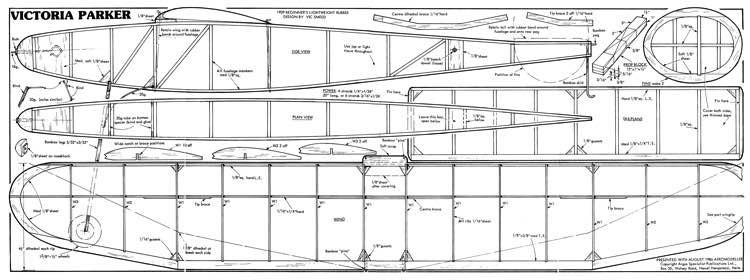 VictoriaParkerFF model airplane plan