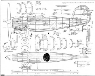 Viper II cleaned model airplane plan