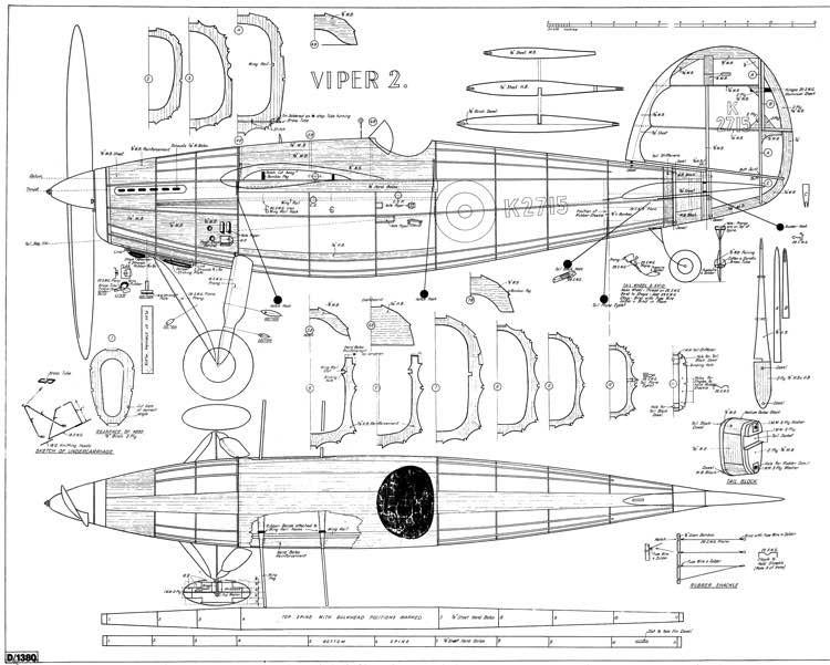 Viper II cleaned model airplane plan