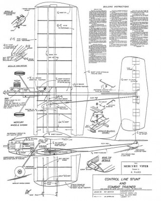 Viper mercury model airplane plan