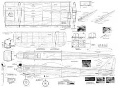 Viscount 60in model airplane plan