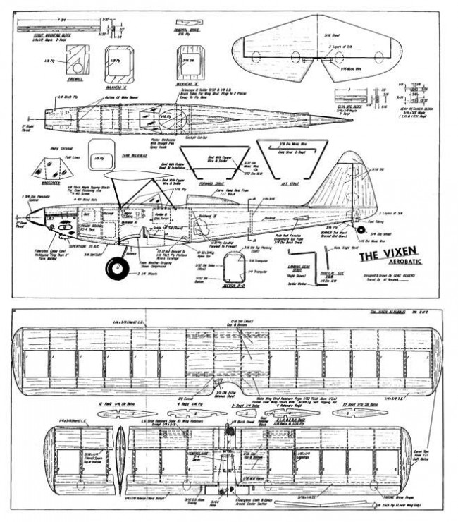 Vixen25 model airplane plan