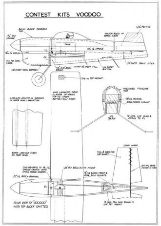Voodoo CL model airplane plan
