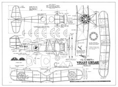 Vought Corsair model airplane plan