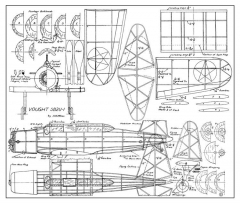Vought SB2U Vindicator model airplane plan