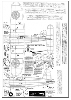 Vought Sikorsky XF4U-1 model airplane plan