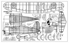 Vought V-143 model airplane plan