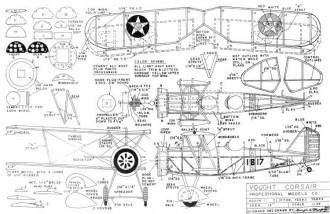 Vought Corsair 12in model airplane plan