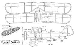 Vought Corsair 15in model airplane plan