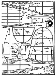Vought Fighter p2 model airplane plan