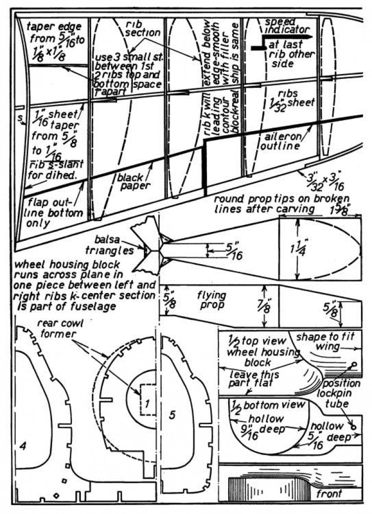 Vought Fighter p3 model airplane plan
