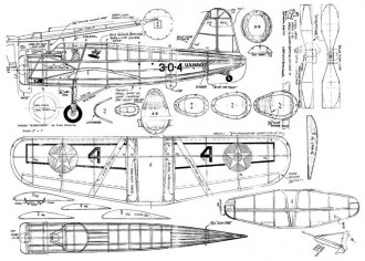 Vought Kingfisher model airplane plan