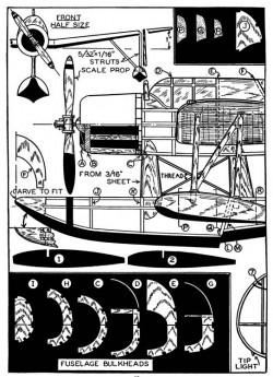Vought Kingfisher p1 model airplane plan
