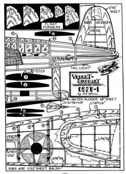 Vought Kingfisher p2 model airplane plan