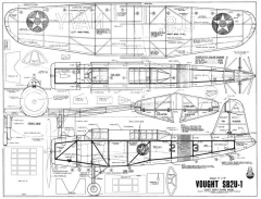 Vought SB2U-1 Vindicator model airplane plan