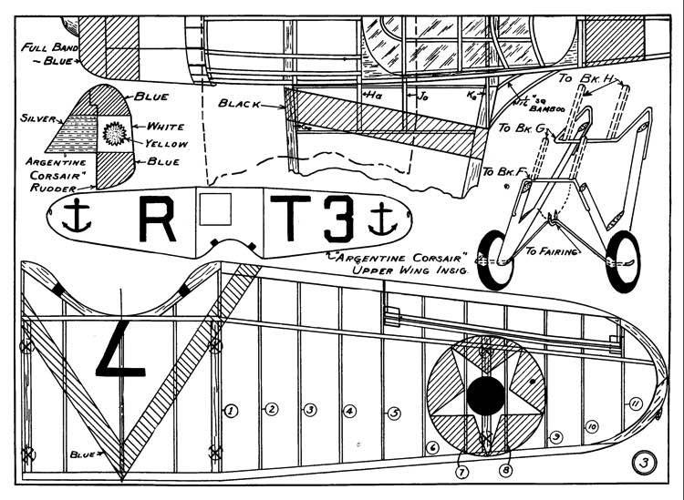 Vought SBU-1 p1 model airplane plan