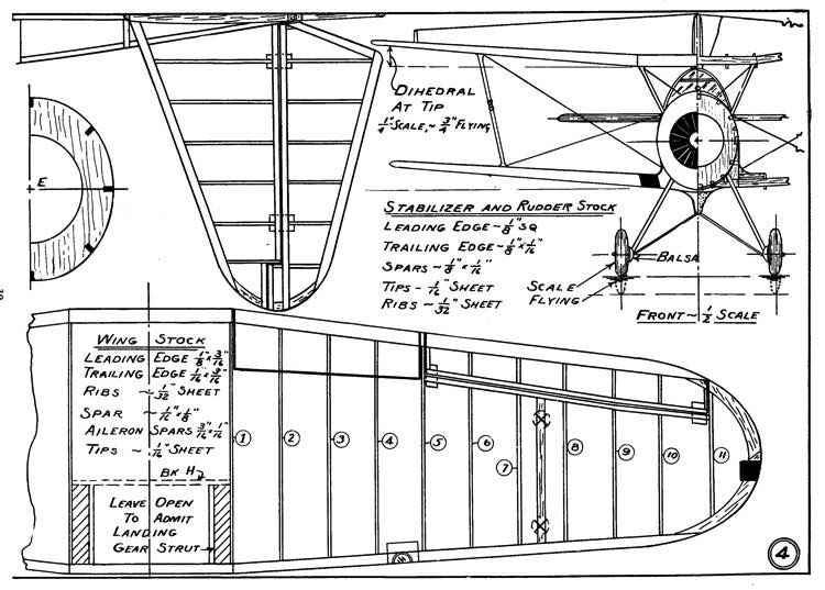 Vought SBU-1 p4 model airplane plan
