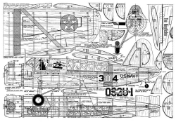 Vought Sikorsky OS2U Kingfisher MAN 03 54 model airplane plan