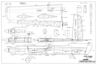 Voyager model airplane plan