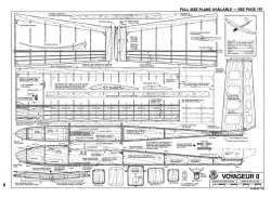 Voyageur II-RCM-08-78 model airplane plan
