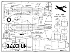 Vultee V1A model airplane plan