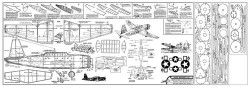 Vultee Vengeance model airplane plan
