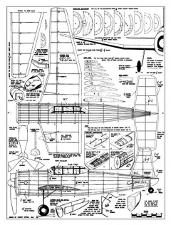 Vultee Vengence model airplane plan