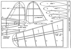Vultee Transport p2 model airplane plan