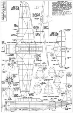 Vultee V-11-GBT model airplane plan