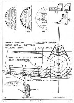 Vultee V-11 Attack p5 model airplane plan