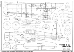 Vultee Vanguard 3 model airplane plan