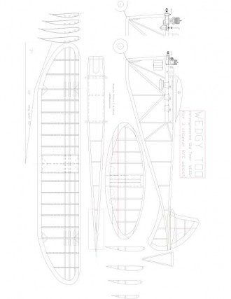 WEDGY Model 1 model airplane plan