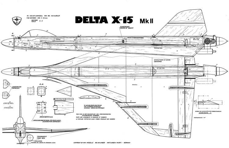 WIK Delta X-15 MKII model airplane plan