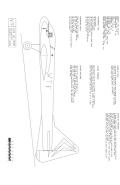 WTF25-1 Model 1 model airplane plan