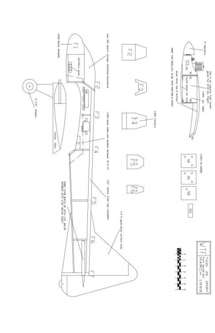 WTF25-2 Model 1 model airplane plan