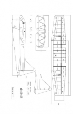 WTF25-8 Model 1 model airplane plan