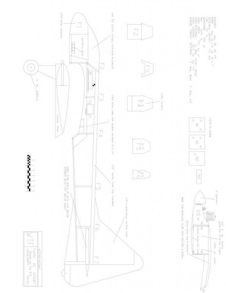 WTF40-8 Model 1 model airplane plan
