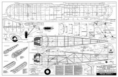 Waco Cabin model airplane plan