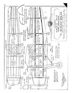 Waco-D model airplane plan