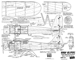 Waco model airplane plan