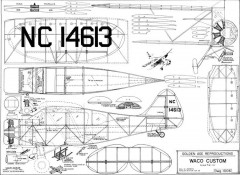 WacoCustom model airplane plan