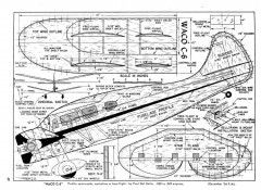 Waco C6 model airplane plan