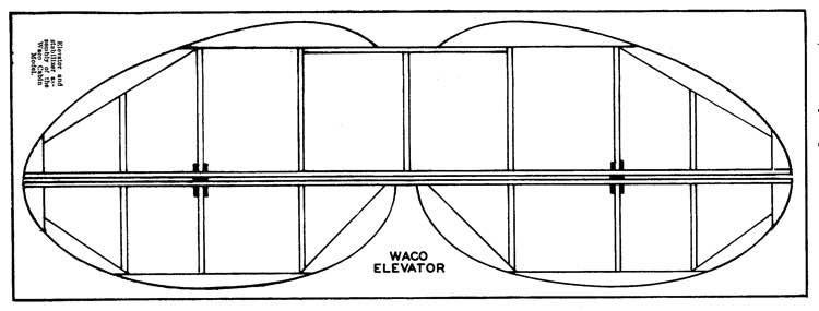 Waco Cabin p5 model airplane plan