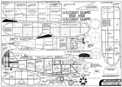 Waco Coast Guard 25in model airplane plan