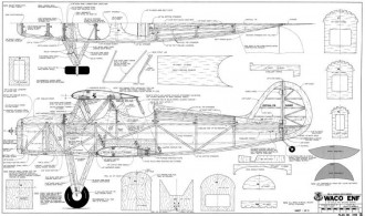 Waco ENF 64in model airplane plan