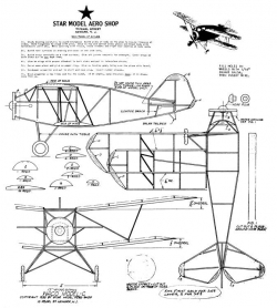 Waco Model C model airplane plan