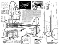 Waco Model D 20in model airplane plan