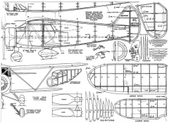 Waco N Tricycle model airplane plan