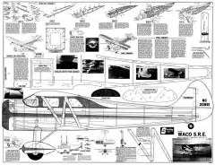 Waco SRE 56in model airplane plan